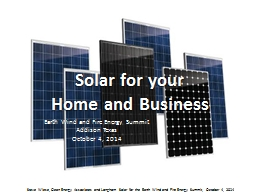 Solar for your PowerPoint PPT Presentation