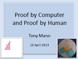 Proof by Computer PowerPoint PPT Presentation