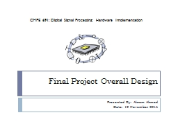 Final Project Overall Design PowerPoint PPT Presentation