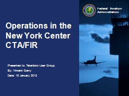 Operations in the New York Center CTA/FIR PowerPoint PPT Presentation