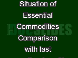 General Price Situation of Essential Commodities Comparison with last month prices Sl