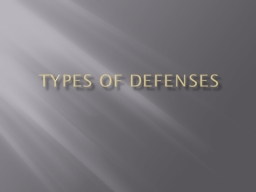 Types of Defenses