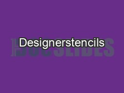 Designerstencils PDF document - DocSlides