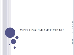 WHY PEOPLE GET FIRED