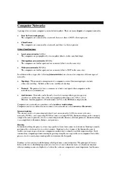Computer Networks A group of two or more computer systems linked together PDF document - DocSlides