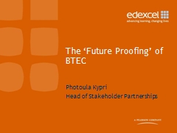 The 'Future Proofing' of BTEC