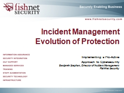 Incident Management Evolution of Protection