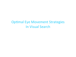 Optimal Eye Movement Strategies