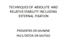 TECHNIQUES OF ABSOLUTE AND RELATIVE STABILITY INCLUDING EXT