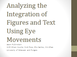 Analyzing the Integration of Figures and Text Using Eye Mov