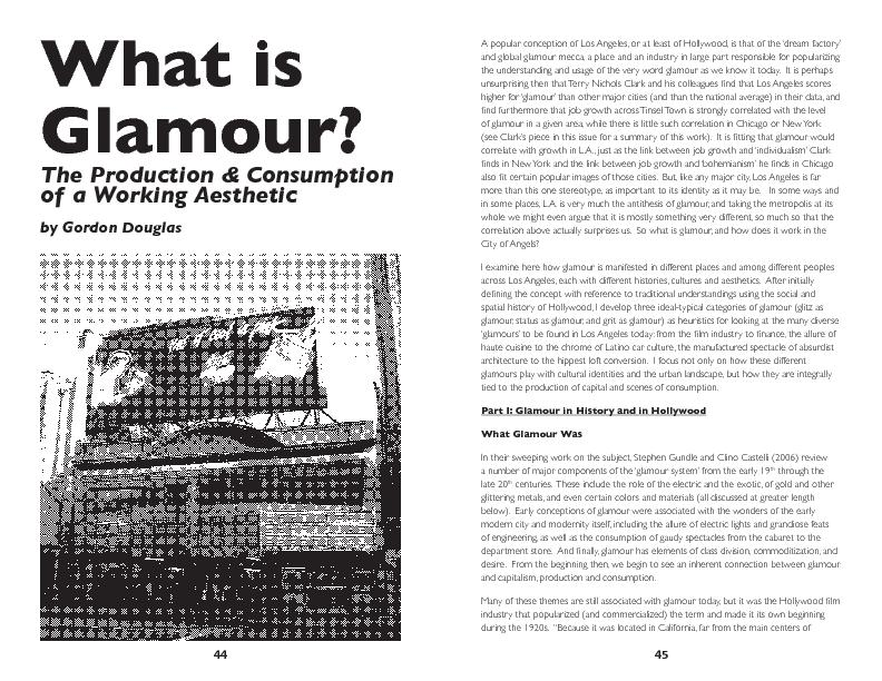 Glamour?The Production & Consumption of a Working Aestheticby Gordon D