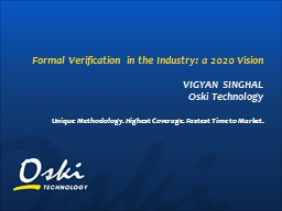 Formal Verification in the Industry: a 2020 Vision