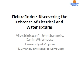 FixtureFinder: Discovering the Existence of Electrical and PowerPoint PPT Presentation