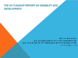 The UN flagship report on Disability and Development