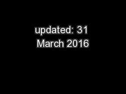 updated: 31 March 2016