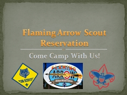 Come Camp With Us!