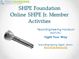 SHPE Foundation PowerPoint PPT Presentation