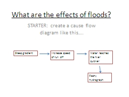 What are the effects of floods?