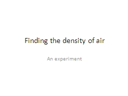 Finding the density of air