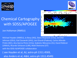 Chemical Cartography with SDSS/APOGEE