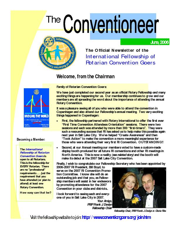 Family of Rotarian Convention Goers: We have just completed our second