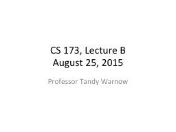 CS 173, Lecture