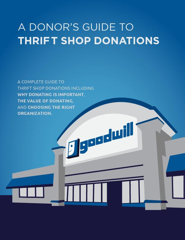 A DONOR'S GUIDE TOTHRIFT SHOP DONATIONSA COMPLETE GUIDE TO THRIFT
