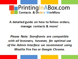 A detailed guide on how to follow orders, manage contacts
