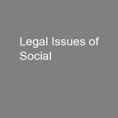 Legal Issues of Social