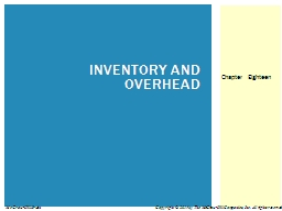 INVENTORY AND OVERHEAD PowerPoint PPT Presentation