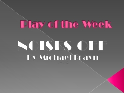 Play of the Week PowerPoint PPT Presentation