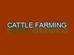 CATTLE FARMING