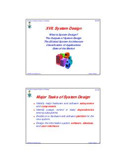 John Mylopoulos CSC Information Systems Analysis and Design System Design   XVII