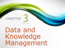 3 Data and Knowledge Management