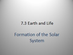7.3 Earth and Life
