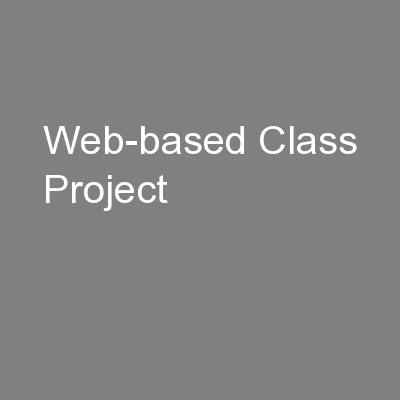 Web-based Class Project