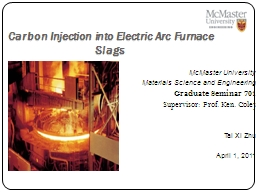Carbon Injection into Electric Arc Furnace