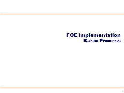 1 FOE Implementation