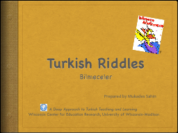 Turkish Riddles
