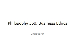 Philosophy 360: Business Ethics