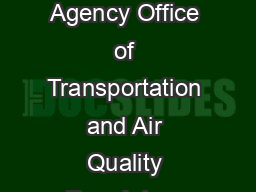 United States Air and Radiation EPAF Environmental Protection January  Agency Office of Transportation and Air Quality Regulatory Announcement Emission Standards Adopted for New Marine Diesel Engines