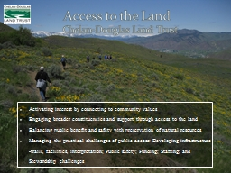 Access to the Land PowerPoint PPT Presentation