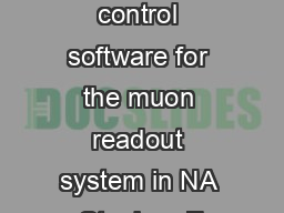 Design of the control software for the muon readout system in NA Stephen F