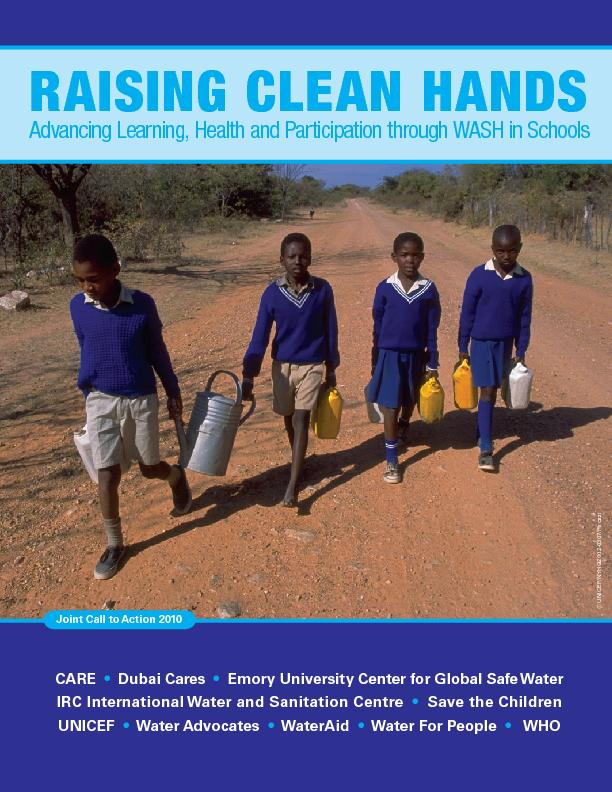 RAISING CLEAN HANDSAdvancing Learning, Health and Participation throug