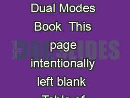 Critical Care Ventilation AVEA Dual Modes  AVEA Ventilator Dual Modes Book  This page intentionally left blank  Table of Contents What Is Dual Mode Ventilation