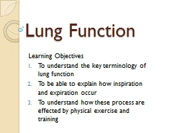 Lung Function