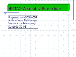 1 HICIAO-Assembly-Procedure