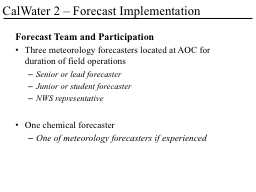 Forecast Team and Participation