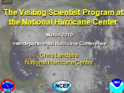 The Visiting Scientist Program at the National Hurricane Ce