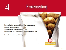 4 Forecasting PowerPoint PPT Presentation